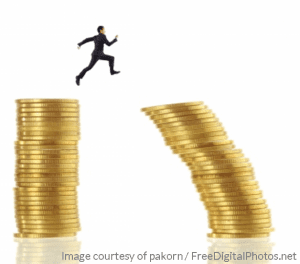 Businessman Jump For Risk - pakorn - freedigitalsphotos2