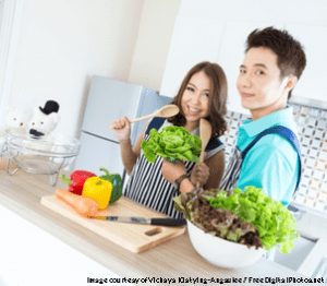 Couples In Modern Kitchen - Vichaya Kiatying-Angsulee - freedeigitalphotos