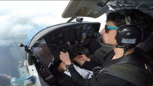 Clinton flying