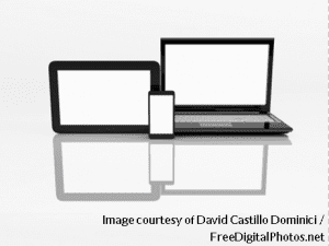 Laptop Mobile And Tablet Pc - David Castillo Dominici - freedigitalphotos - with credit